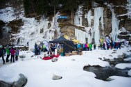 30.01.2016, Eispark, Matrei in Osttirol, AUT, 1. Osttirol Eis Festival, im Bild Zuschauer beim Eispark // during 1st Osttirol Ice Festival at icepark in Matrei in Osttirol, Austria on 2016/01/30. EXPA Pictures © 2016 PhotoCredit: EXPA/ Michael Gruber