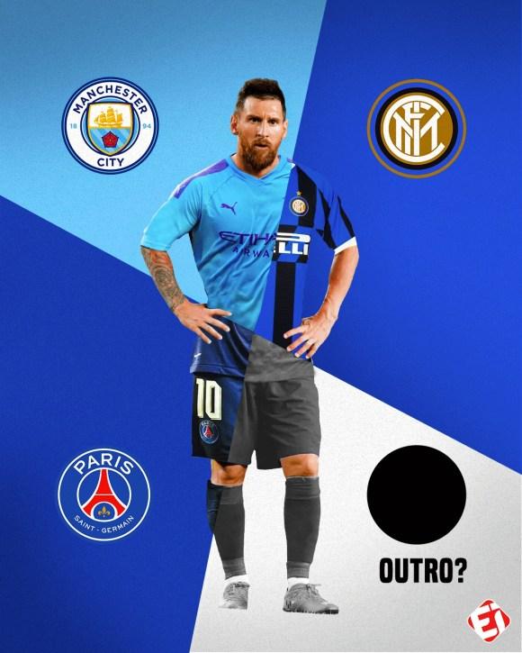 Ao sair do Barcelona, para onde Messi vai?