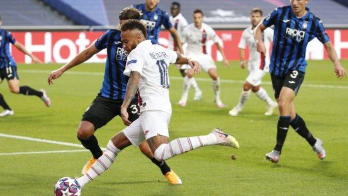 Neymar fundamental na vitória do PSG sobre o Atalanta