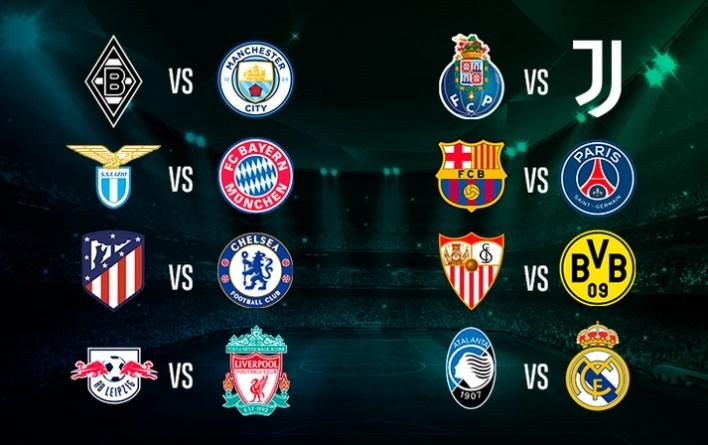 Sorteio Realizado, Veja Todos os Duelos das Oitavas de Final da Champions League 2020/21