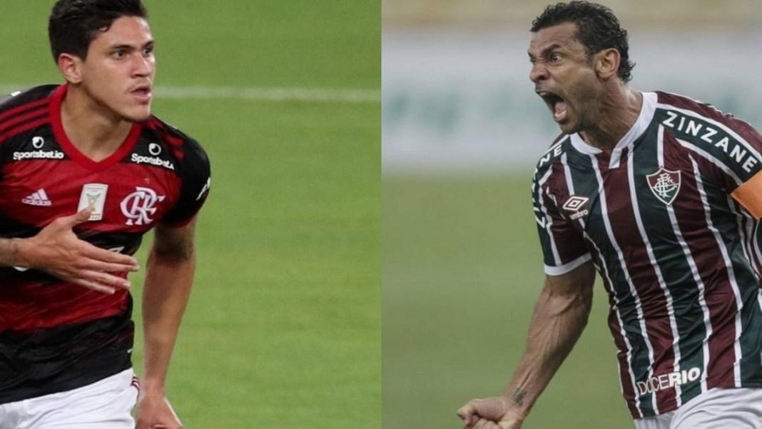 Foto/Reprodução - Flamengo contra Fluminense.