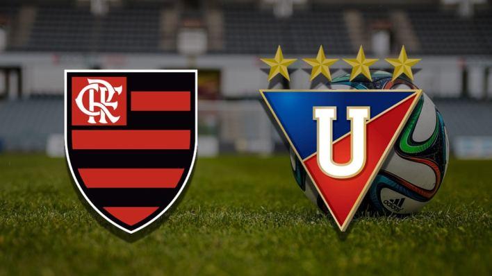Brasões Flamengo e LDU Quito.