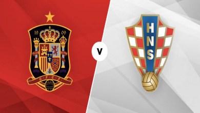 Foto/Ilustração: Jogo entre Croácia x Espanha.