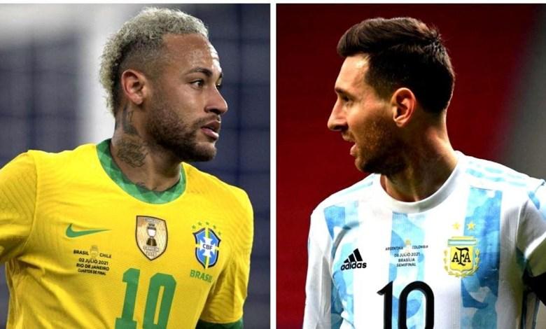 Final da Copa América 2021 Terá Brasil x Argentina