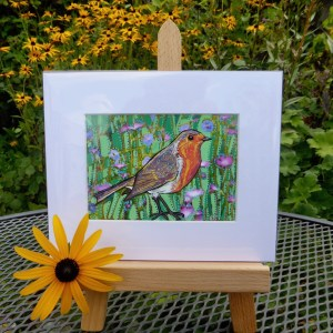 Robin painting by Larryware