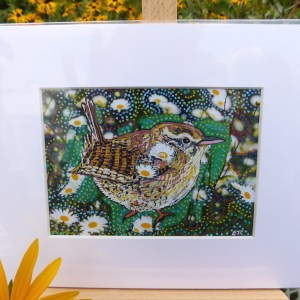 Wren painting by Larryware