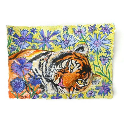 Tiger watercolour by Larryware