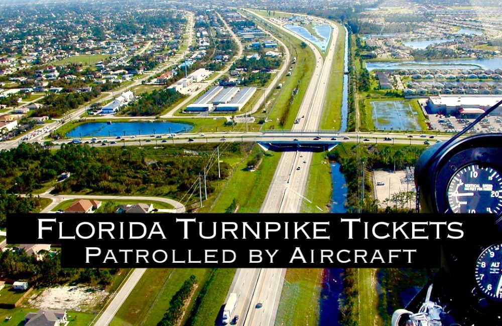 Florida Turnpike Tickets Patrolled by Aircraft