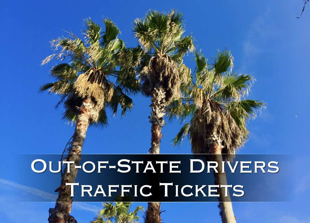 Out-of-State Driver Traffic Tickets
