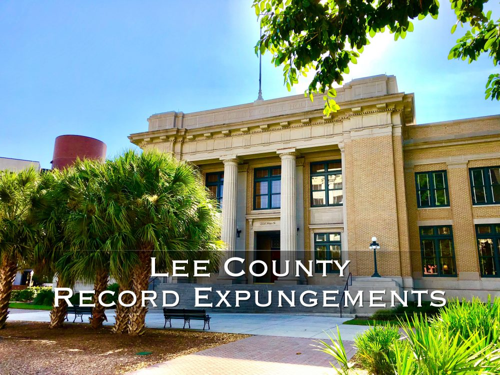 lee county record expungements