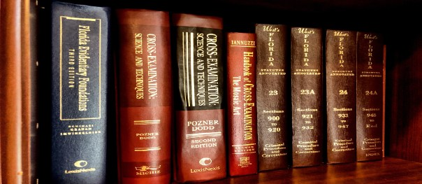 picture of law books on bookshelf