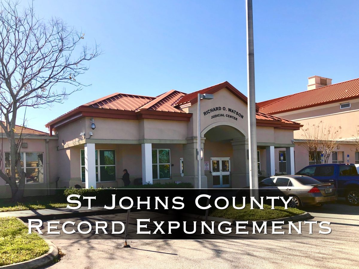 st johns county record expungements
