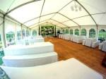 LED-Wand im Party Zelt
