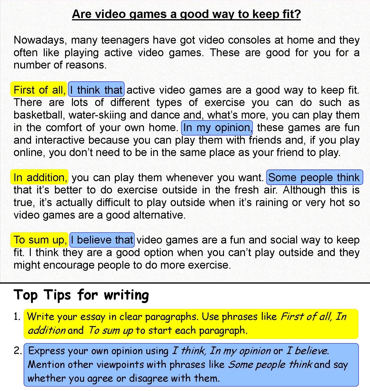 5 Ejemplos De Opinion Essay