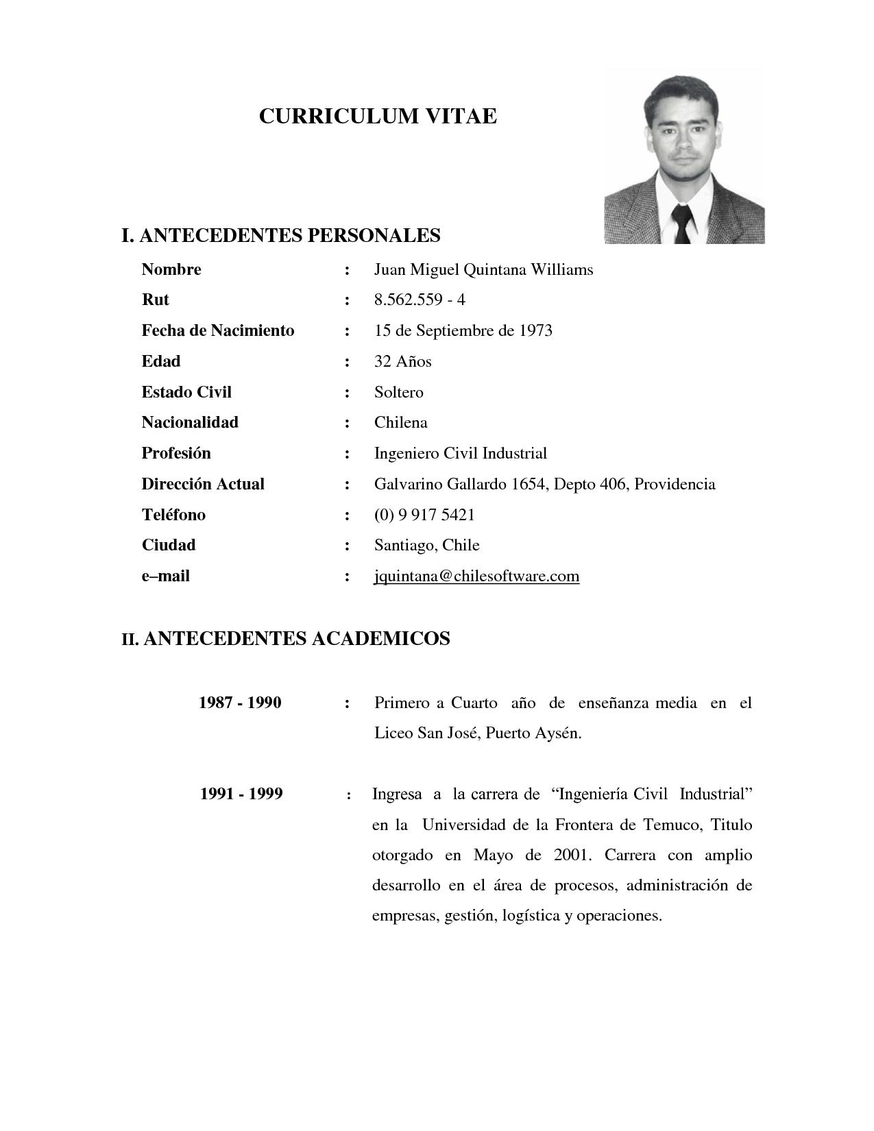 Curriculum Vitae Word Sencillo Modern Job Application Letter Sample