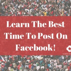 Learn the best time to post on Facebook