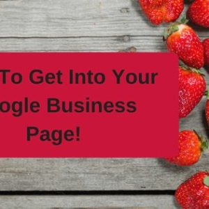 how to get into your google business page