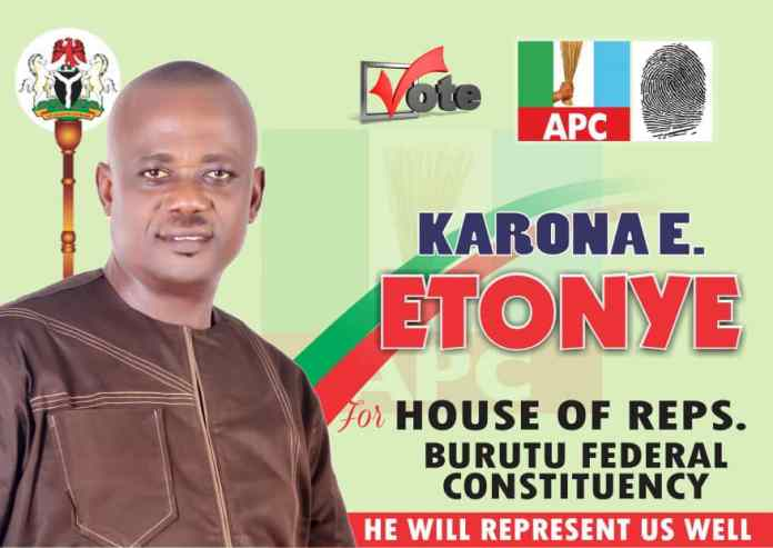 BURUTU STAND STILL FOR HON. KARONA ETONYE AS HE FLAG OFF CAMPAIGN TODAY*