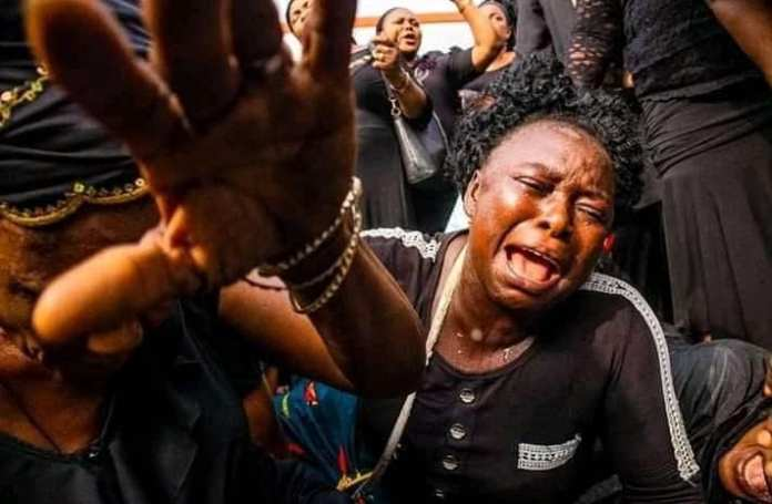 PDP members in Imo state wept openly as they took to the streets to protest the annulment of Emeka Ihedioha's election by the Supreme court last week.