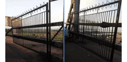 Delta State Government demolishes Niger Bridge Gate erected by Anambra Government
