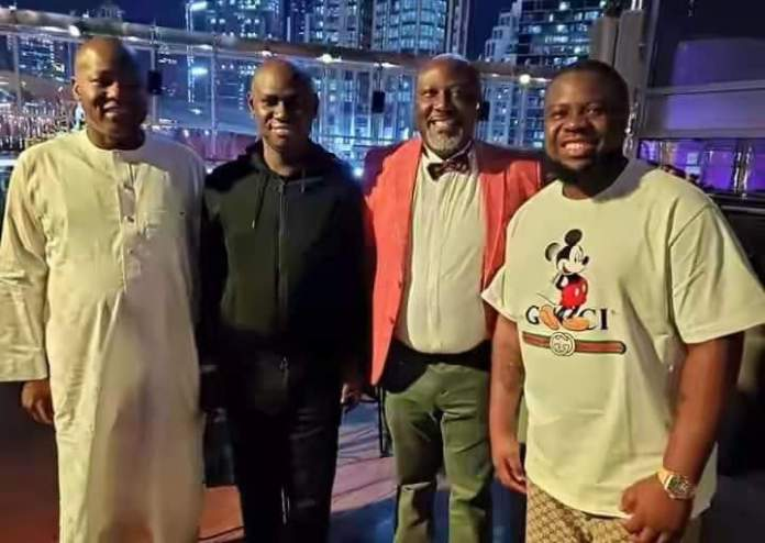 JUST IN: APC releases footage of Dino Melaye, Dogara discussing with Hushpuppi
