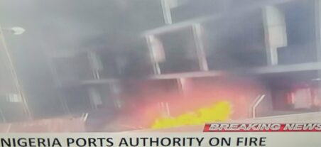 Breaking News : Nigeria Ports Authority on Fire