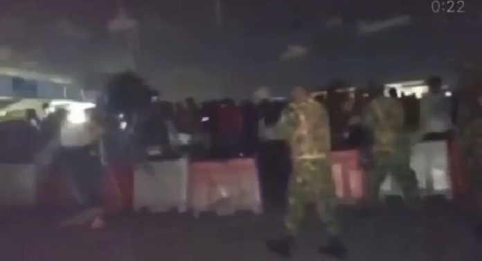 Moment Nigerian Army Starts Shooting at Protesters