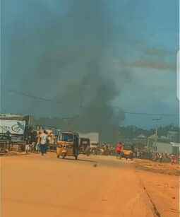 33 Police Station In Onitsha On Fire