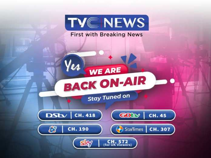 Update : TVC News is Back On Air
