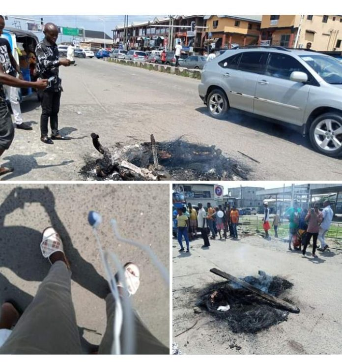 Two Armed Rubbers Set Ablaze in Delta State