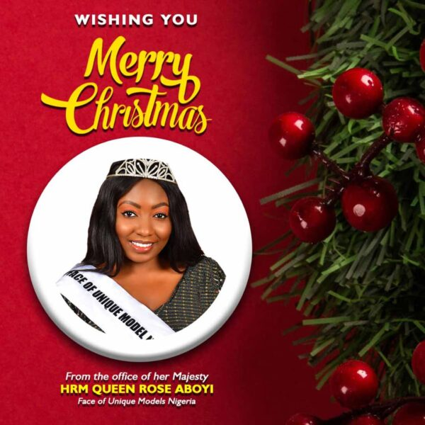 Newly Crowned Queen Rosemary Aboyi celebrates Christmas, preaches love