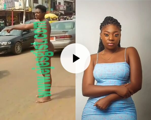 University Graduate roams the street naked after she had dumped a man who sponsored her Education.