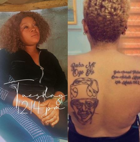 Woman Tattoo Tinubu's Face on Her Body Cries For Help