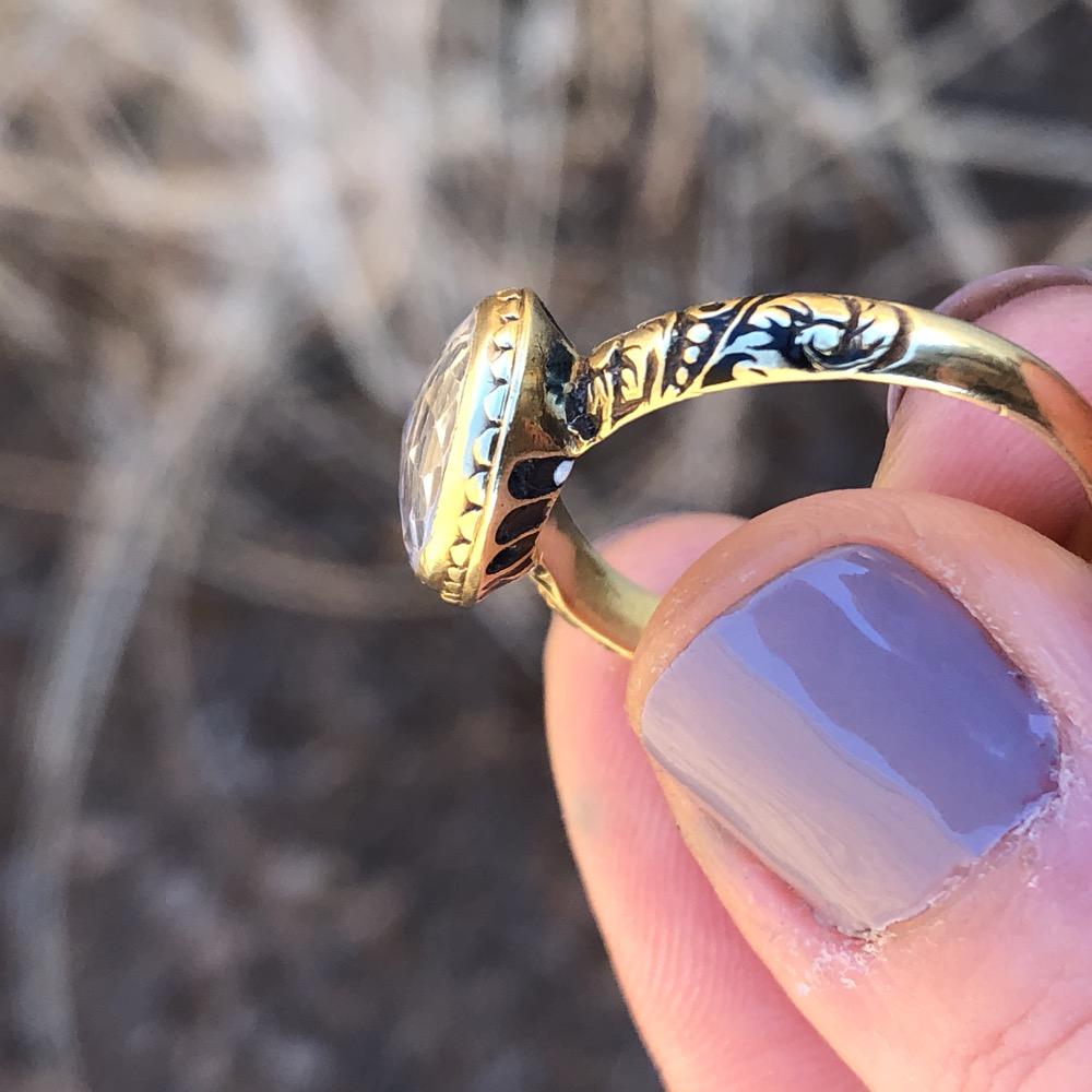 Stuart Crystal Ring Antique 17th Century Jewelry | EJ Mama