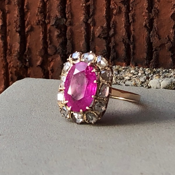 The unheated pink sapphire ring