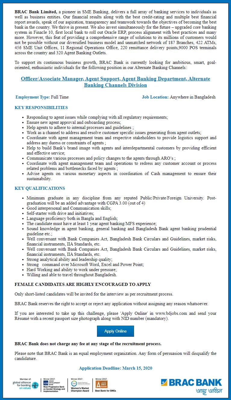 BRAC Bank Limited jobs