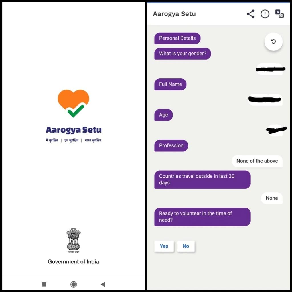 Aarogya Setu apps