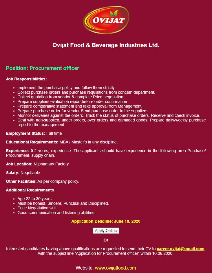 Ovijat Food & Beverage Industries Limited