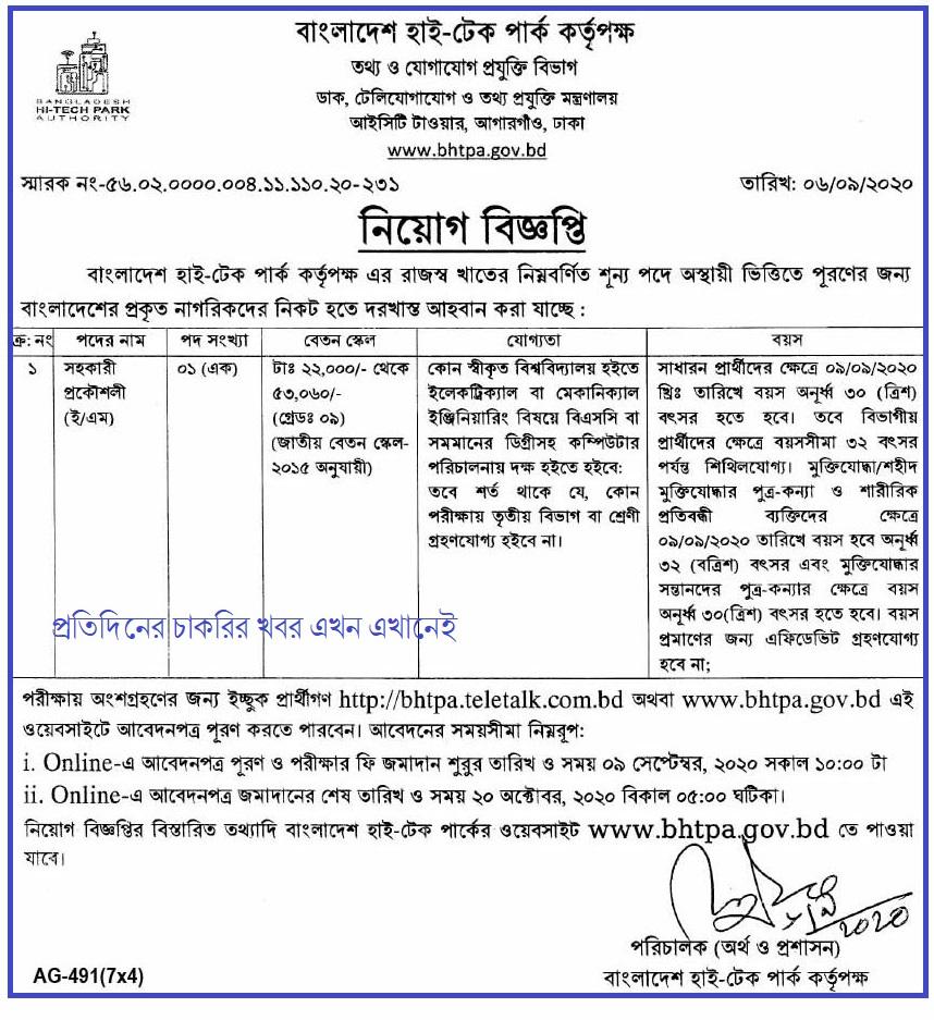 ICTD Job Circular 2020