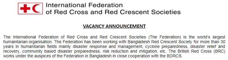 International Federation Red Cross IFRC Job Circular