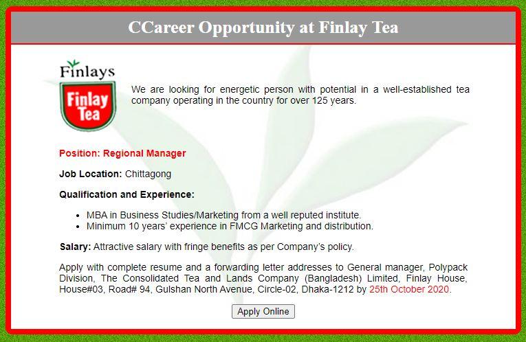 finaly tea jobs