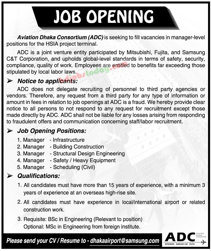 Aviation Dhaka Consortium Job Circular