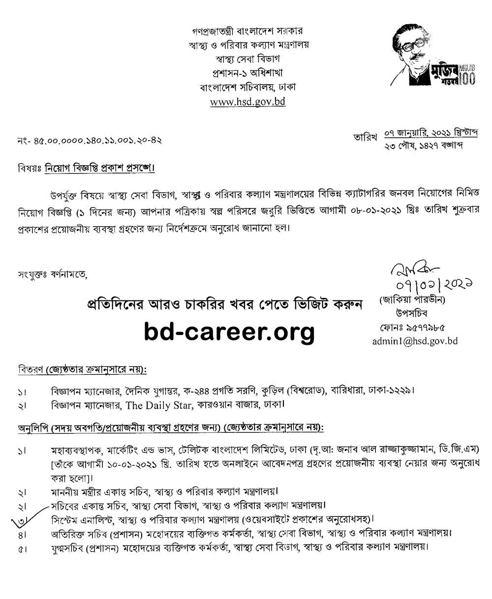 HSD Recruitment Notice 2021 PDF