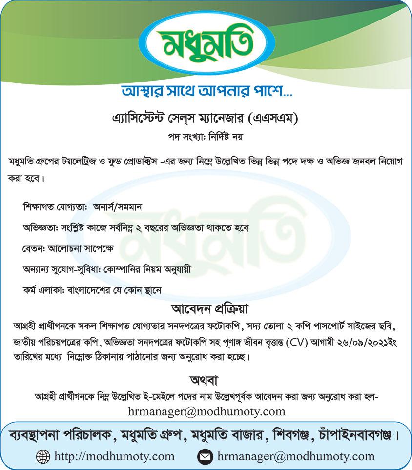 Modhumoty Group Job Circular