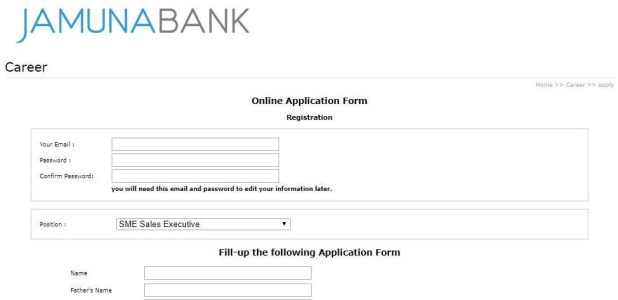 jamuna bank Online Application Method