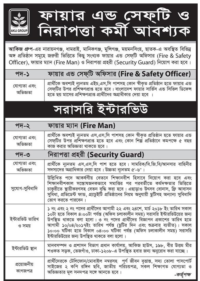 Akij Group Job Circular