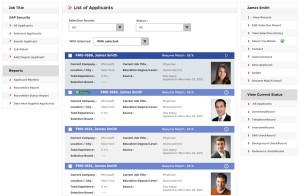 job board software list of applicants