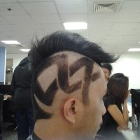 Hair Tattoo: Larger Design