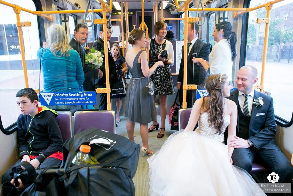 light rail wedding trimet MAX