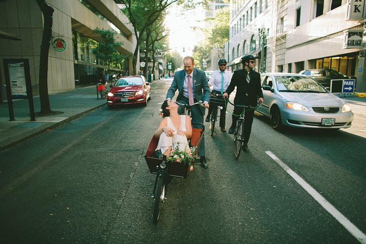 cargo bike wedding car-free wedding